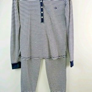 Tommy Hilfiger Size S Striped Thermal Pajama Set